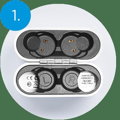 QuietOn Dental charging - step 1