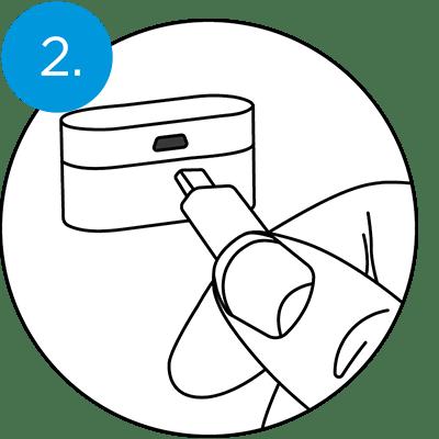 QuietOn Dental charging - step 2