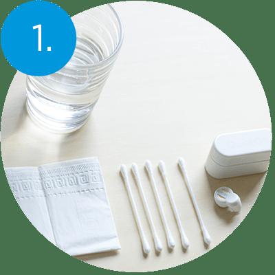 Cleaning QuietOn Dental - step 1